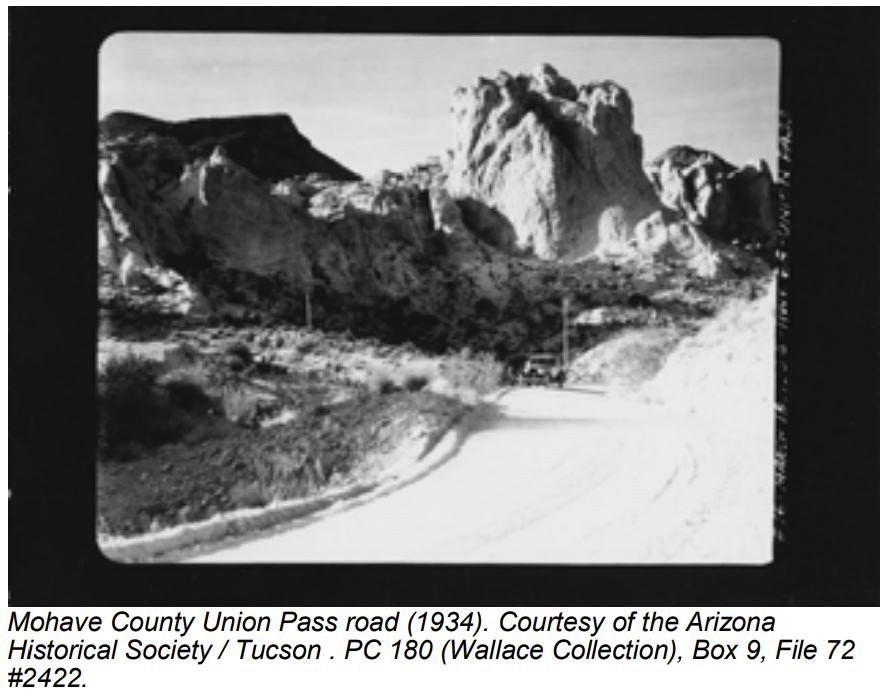 Mohave County Union Pass road