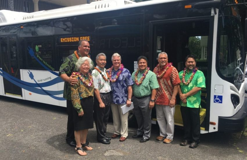 Department of Transportation   Electric bus demonstration showcases sustainable ground transportation future for Hawaii