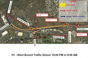Department of Transportation | H-1 Freeway weekend closures continue for the Kapolei Interchange Complex, Phase 2 project