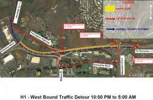 Department of Transportation | Closure of the westbound H-1 Freeway for the Kapolei Interchange project scheduled July 15