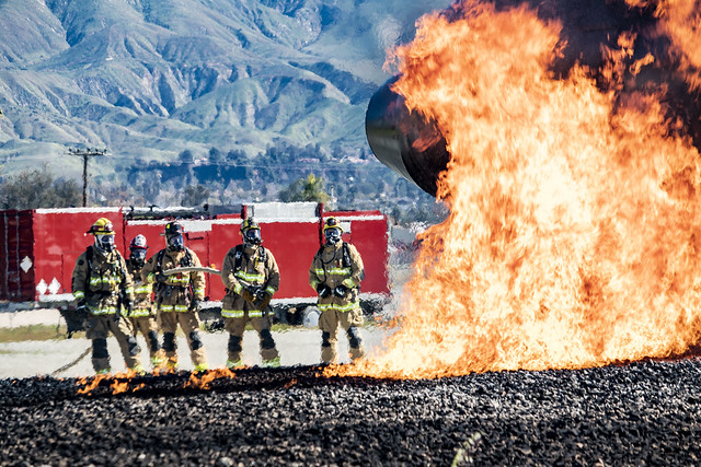 Grand Canyon Airport Firefighter Training