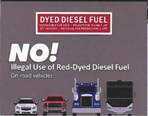 Red-dyed diesel 1