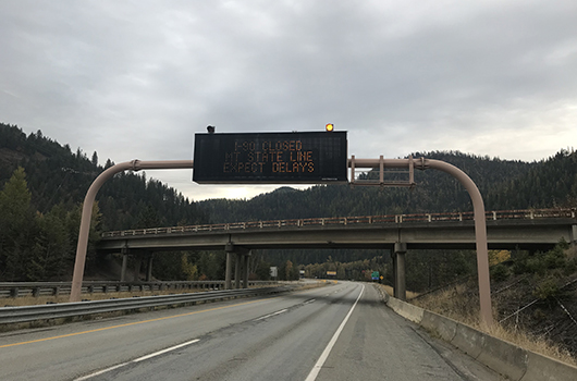 Eastbound I-90 closed at Lookout Pass; drivers to seek alternate routes to avoid Montana closure