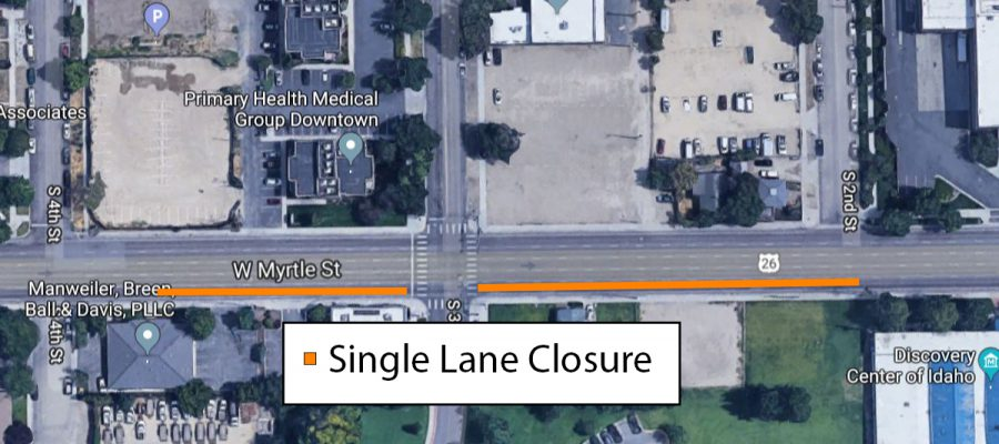 Map of Myrtle Closure
