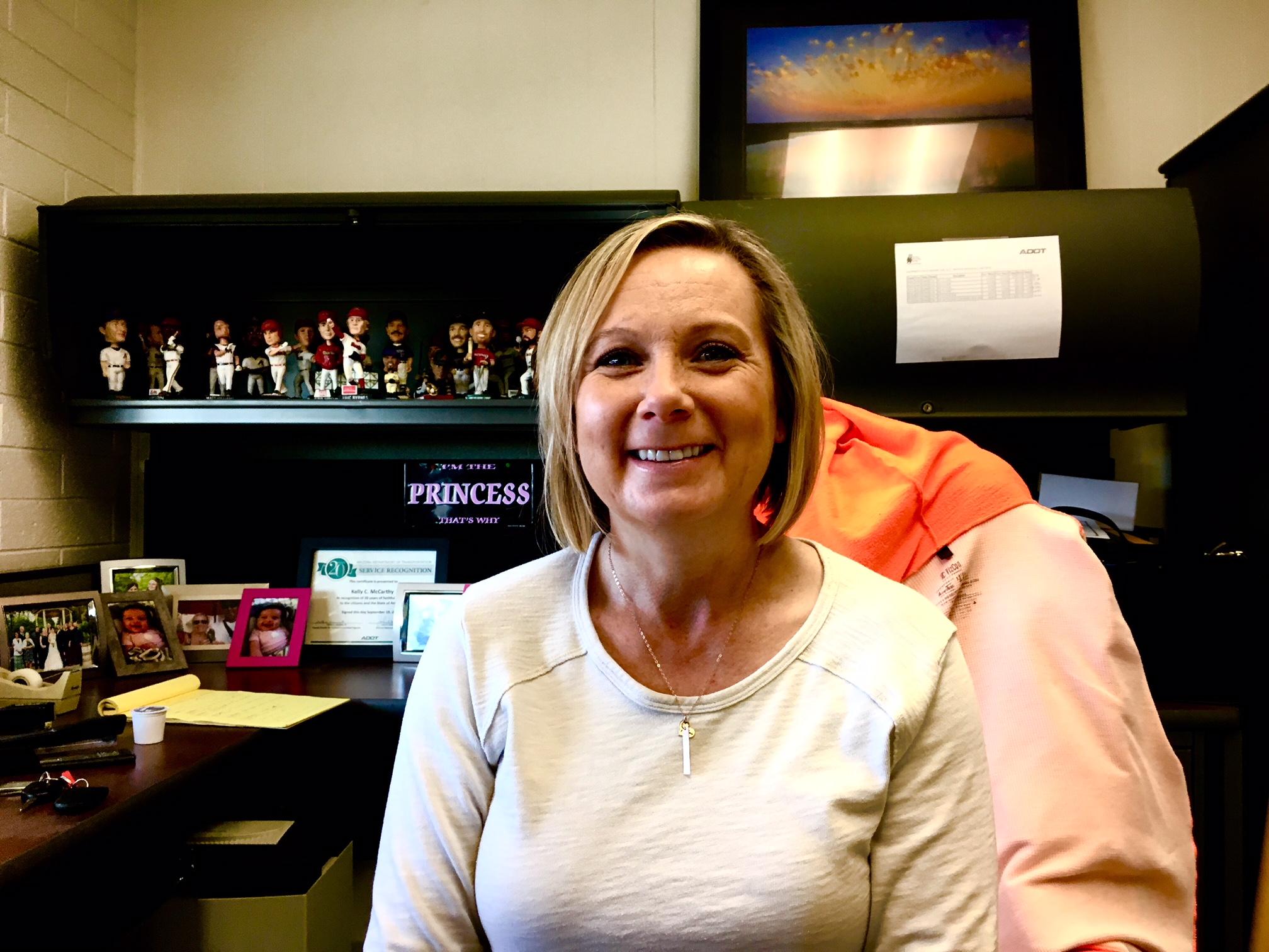 Kelly Baum, supervisor of Phoenix Materials Lab, loves her job