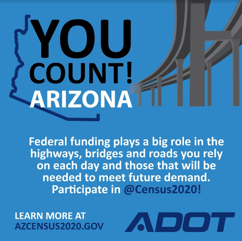 ADOT 2020 Census participation graphic