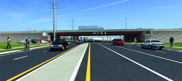Graphic rendering of new SPUI interchange