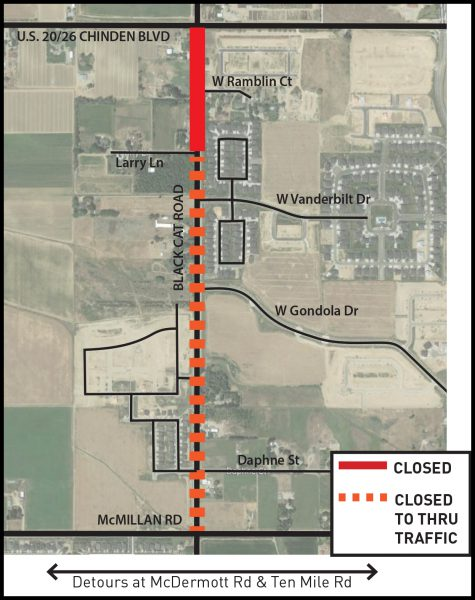 Black Cat Road Closure Map