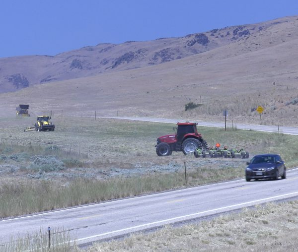 ITD crews mow alongside U.S. 20 in Elmore County