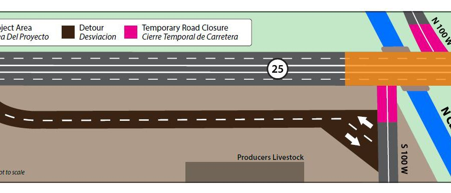 Graphic of N Canal project road closures