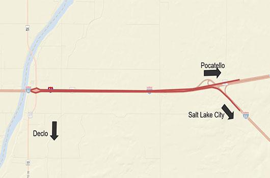 Image of traffic pattern change at Salt Lake Interchange