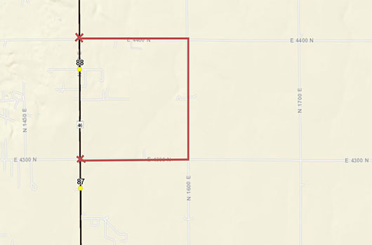 Image of ID-46 detour north of Buhl
