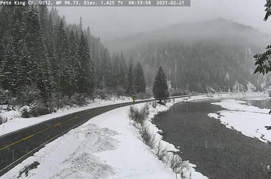 Section of US-12 east of Kooskia to close at 4 p.m. PT today due to avalanche hazard